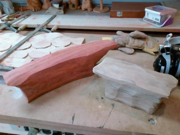 Roughing out wooden storms