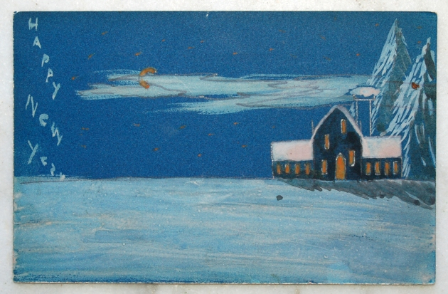 Post card painting
